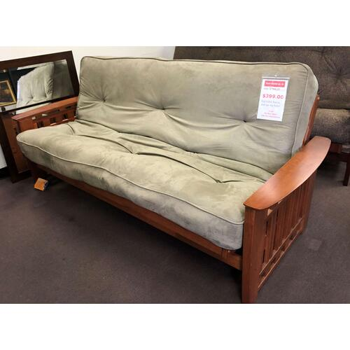 Futon Wood Frame With Mattress Combo