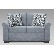 Anna Blue/Grey Loveseat
