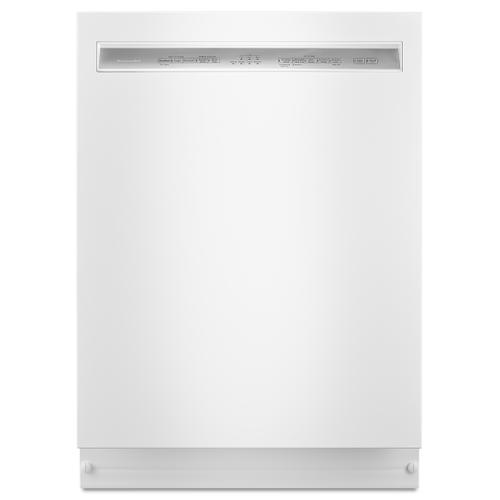 KitchenAid - Kitchenaid 46dBA White Top Control with Stainless Steel Tub