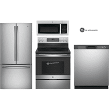 GE Package with 33'' Wide Counter Depth Refrigerator