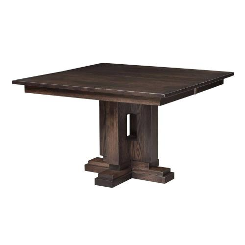 Boca square pedestal table