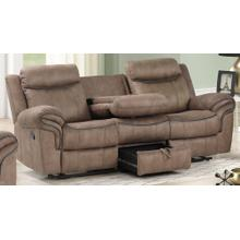 Harley Light Brown Sofa with Dual Recliners