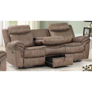 New Classic Furniture - Harley Light Brown Sofa with Dual Recliners
