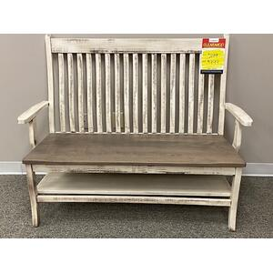 "Amish Craftsman - 66"" Wide Arm Bench"