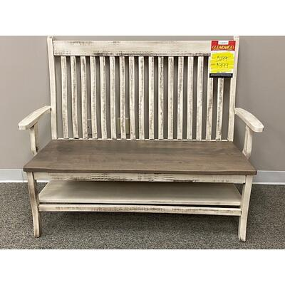 """See Details - 66"""" Wide Arm Bench"""