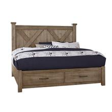 Product Image - Artisan & Post Cool Rustic 4-Piece Queen Size Bed in Stone Grey Finish