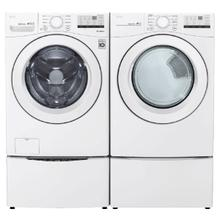 LG Ultra Large Capacity 4.5 cu. ft. Front Load Washer & 7.4 cu. ft. Electric Dryer with Pedestals