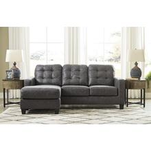 Venaldi Sofa Chaise Queen Sleeper Gunmetal