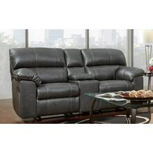 Stallion Charcoal Motion Loveseat w/ Console