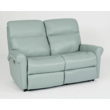 Davis Leather Reclining Loveseat