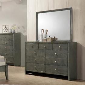 Evan Dresser Mirror - Grey