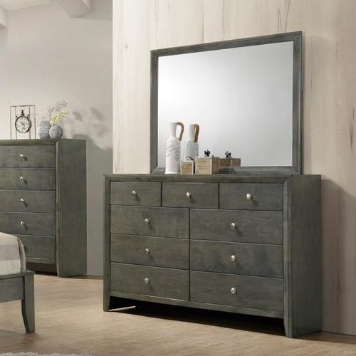 Crown Mark - Evan Dresser Mirror - Grey