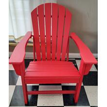 See Details - Red Outdoor Patio Chair