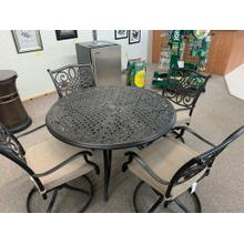 See Details - CLOSEOUT Traditions 5 Pc. Dining Set with Four Swivel Rockers and a 48 in. Round Table