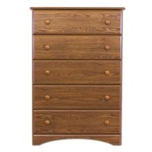 Big Chester - 5 Drawer Chest - Aspen Oak
