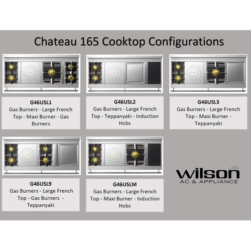Chateau 165 (LM) - 2-Gas Burners - 1-French Plaque - 1-Maxi-Burner -  2-Induction Burners