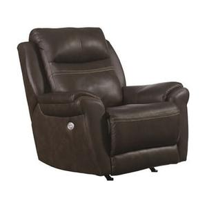 "Southern Motion SoCozi Recliner with Power Headrest . Power Heat and message.  42""W x 42""D x 42""H in luxury leather 906-23 Alfresco Hickory"