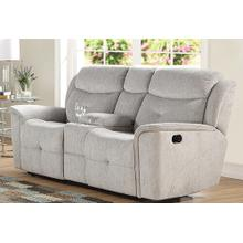Havana Reclining Console Love Seat Cloud