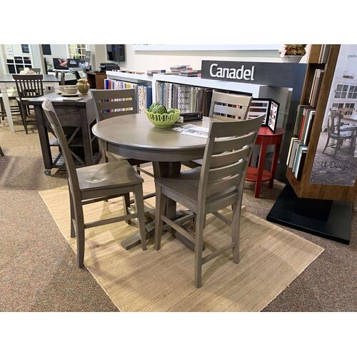 Bar Height Pedestal Table with 4 Chairs