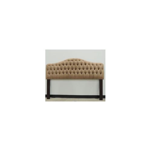 Fashion Bed Group - Valencia Upholstered Headboard, Mocha Finish, King