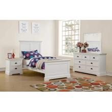 Twin Bed, White