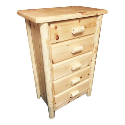 5-Drawer Rustic Chest