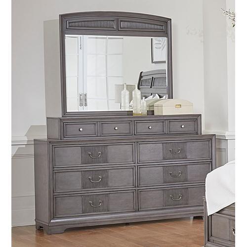 Lifestyle - LIFESTYLE C8472 C8472-045 C8472-050 C8472-QTO C8472-QTG C8472-QXJ C8472-BTN C8472-MXS Lorrie Weather Greywash 3-Piece Bedroom Group - Queen Storage Bed, Dresser & Mirror