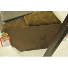 Dark brown storage wedge,