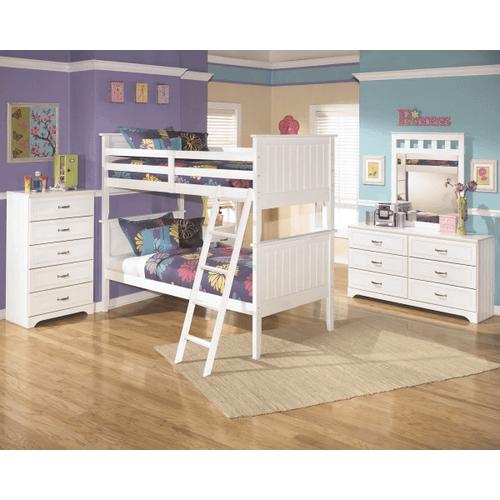 Lulu - White - 7 Pc. - Dresser, Mirror, Chest, Nightstand & Bunk Bed (twin/twin)
