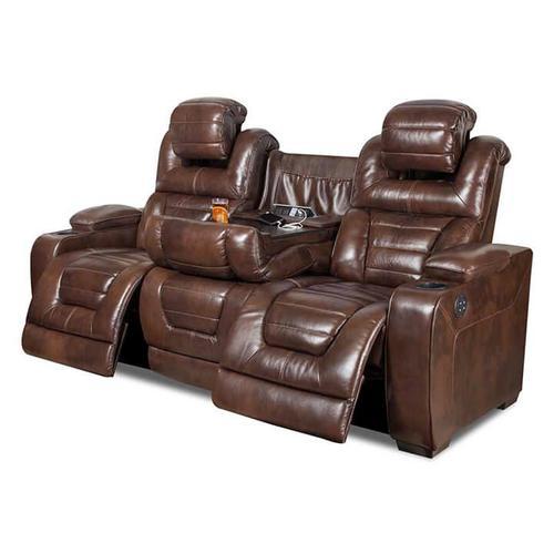 CORINTHIAN 73901RG Manhattan Desert Chocolate Power Reclining Console Sofa, Power Reclining Console Loveseat & Power Recliner Group
