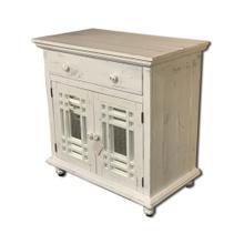 See Details - Sergio Antique White Cabinet