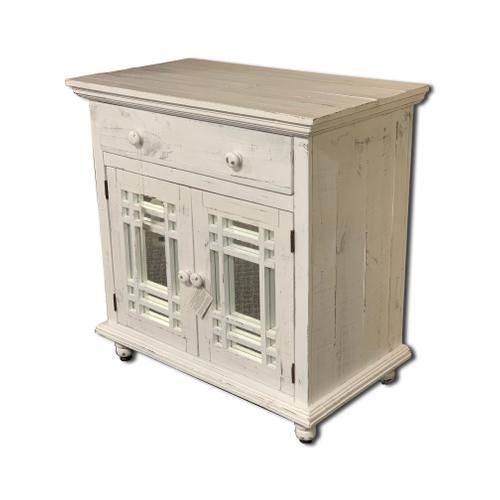 Sergio Antique White Cabinet