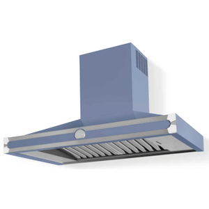 Lacornue Cornufe - Provence Blue Cornufe 110 Hood with Polished Chrome Accents