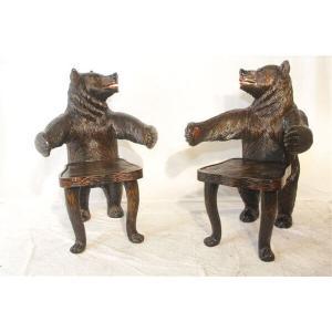 Carved Bear Chair