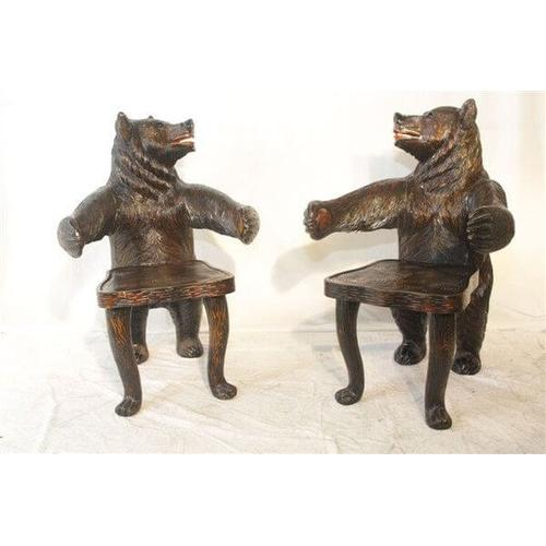 All Resort Furnishings - Carved Bear Chair