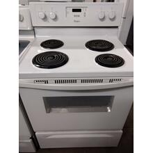 White Whirlpool Coil Range   (This may be a Stock Photo, actual unit (s) appearance may contain cosmetic blemishes. Please call store if you would like additional pictures). This unit carries our 6 Month warranty, MANUFACTURER WARRANTY and REBATE NOT VALID with this item. ISI 37026 B