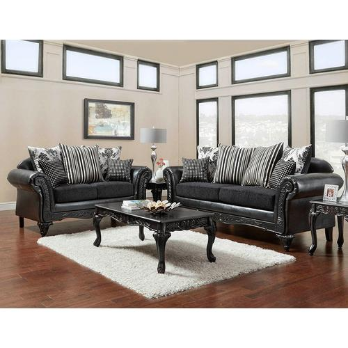 Continental Designs - Wood Trimmed Chaise