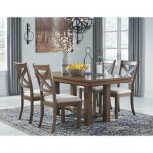 View Product - 5 Piece RECT DRM EXT Table and 4 UPH Side Chairs