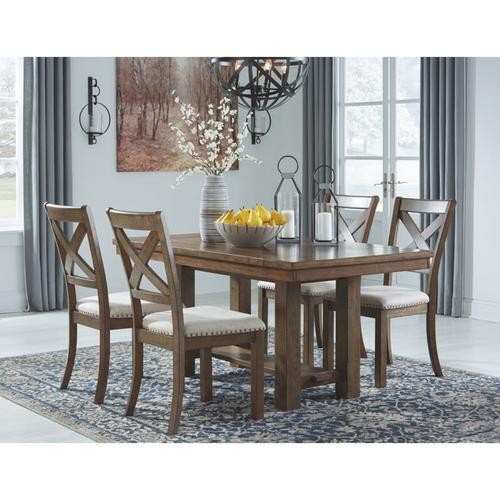 Ashley Furniture - 5 Piece RECT DRM EXT Table and 4 UPH Side Chairs