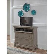 Ashley Lettner Media Chest, Light Gray