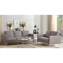 Soho- Brown Sofa and Loveseat