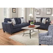 UNITED 7081G Prelude Navy Sofa, Loveseat, Zulu Indigo Accent Chair Group