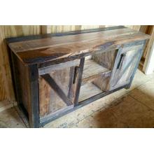 2 Door Reclaimed Barnwood Cabinet