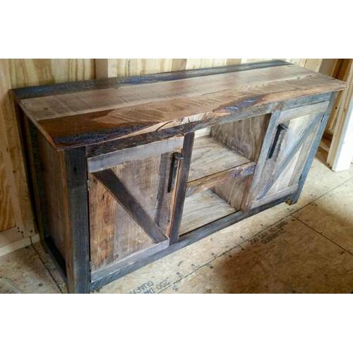 Cozy Creations Collection - 2 Door Reclaimed Barnwood Cabinet