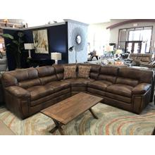 Leather Italia Rio Casual Leather Sectional