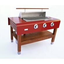 See Details - Rockwell By Caliber Social Grill - Red (Propane)