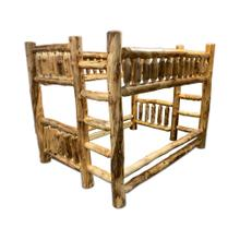 Queen / Queen Log Bunk Bed