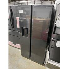 27.4 cu. ft. Large Capacity Side-by-Side Refrigerator in Black Stainless Steel ***SCRATCH OR DENT ITEM*** 1 YEAR WARRANTY***
