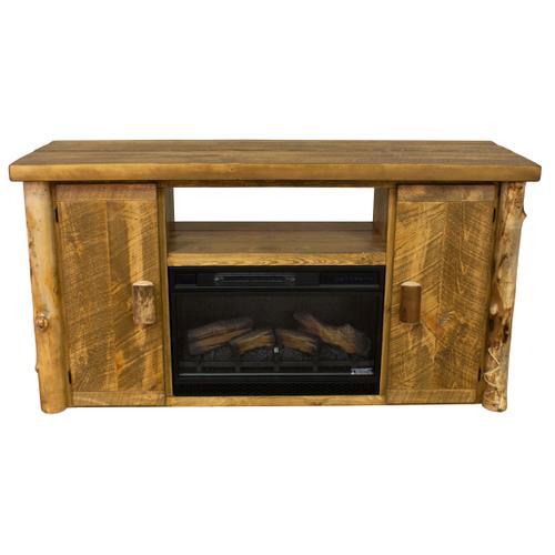"Best Craft Furniture - Aspen 60"" Entertainment Fireplace Rough Sawn Pine"