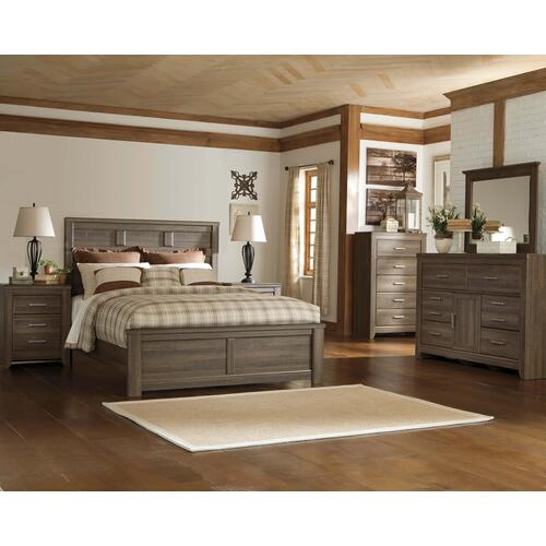 Juararo - Queen Panel Bed, Dresser, Mirror, & 1 x Nightstand